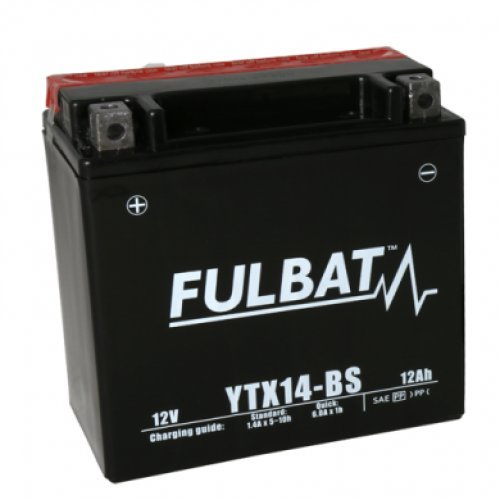 Fulbat - Batterie tondeuse YTX14-BS étanche 12V / 12Ah