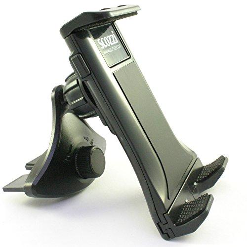 scozzi 360° KFZ CD Schlitz Halter universal Smartphone Handy Telefon (auch Tablets von 7-10.1 Zoll) Auto Halterung Schacht Fach schwarz (Modell: CD Mod:2) (am10)