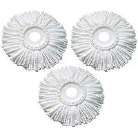 Generic Fiber and Plastic 360 Degree Rotating Magic Mop Refill, White - Pack of 3