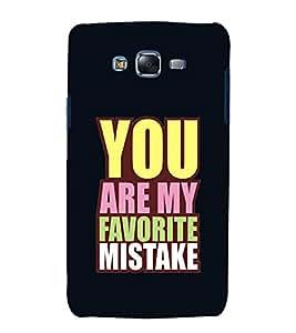 FUSON Favorite Mistake Life 3D Hard Polycarbonate Designer Back Case Cover for Samsung Galaxy J7 J700F (2015) :: Samsung Galaxy J7 Duos (Old Model) :: Samsung Galaxy J7 J700M J700H