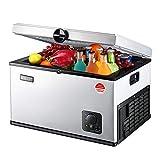 WMZX Auto Kühlschrank Kompressor Kühlung 12V / 24V Auto Einfrieren kleinen Kühlschrank Auto Dual-Use 35L / 45L / 65L, schnelle Abkühlung (Color : White, Size : 35L)