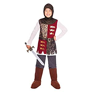 amscan- Valiant Knight 6-8 Years Disfraz, Multicolor (9904114)