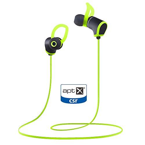 Bass Evolution Senz Sports Bluetooth Wireless Earphone with Qualcomm apt-X (Sporty Green)