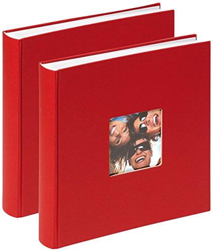 Walther design, album foto da incollare fun, rosso, 2er pack 30 x 30 cm