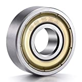 Ancirs 20pcs 625zz Roulements à billes, métal blindé la graisse miniature Deep Groove Roulements à billes (5mm X 16mm x 5mm), 1,9cm Hauteur, 3,8cm de large, 5,1cm de long, EN ACIER Carbone