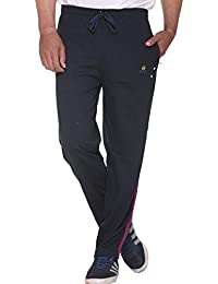 CUPID Men's 2 Striped Stylish Track Pants / Cotton Lowers / Sports Trousers / Night Pant / Joggers (Regular Fit...