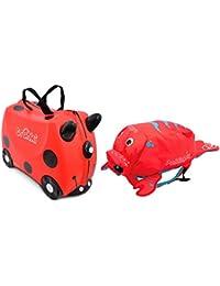 TRUNKI, Set de maleta y mochila, rojo (Rojo) - 0261-GB01