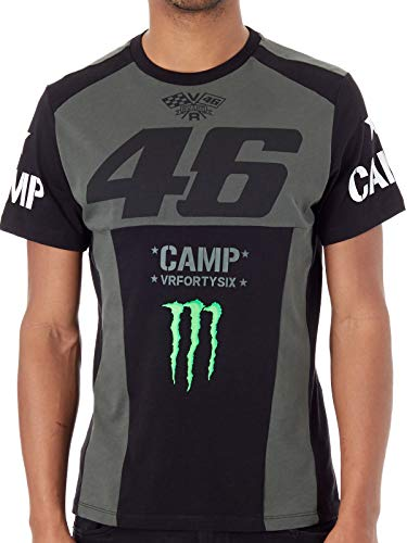 Valentino Rossi Monster Energy Grun Vr46 Camp T-Shirt (X-Large, Grun) (Monster Energy T-shirts)