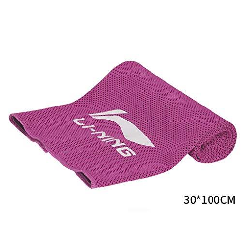 Aa-ss-gym towel asciugamano rinfrescante per il raffreddamento istantaneo - usa come sciarpa rinfrescante fascia wristband bandana - morbida fibra di bambù fresca - tennis da pallacanestro