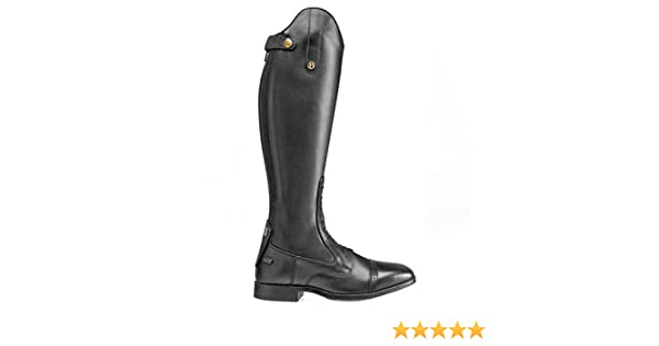 Brogini Ladies Long Horse Riding Leather Outdoor Country Walking Zipped Laced Boots