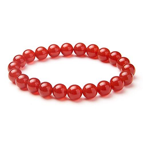 em Rot Achat Edelsteine Armband Stretch Perlen rund 8 mm über 7