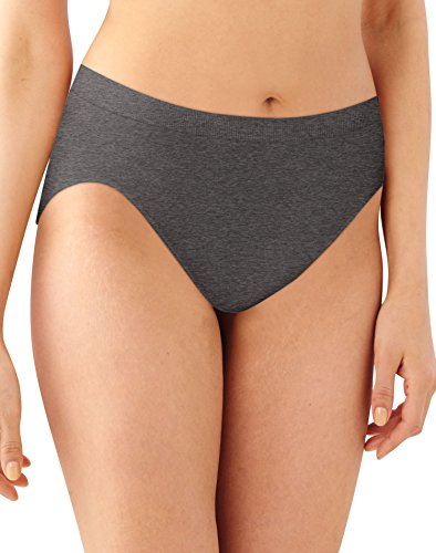 Seamless Hi-cut-panty (Bali Microfiber Soft Seamless Comfort Hi-Cut Panties Gravel Gray 6/7)