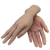 Tattoo Practice Skin Fake Hand Mould Similar to Human Silicone Men Hand for Artists and Display Jewelry the Finger can be Bended