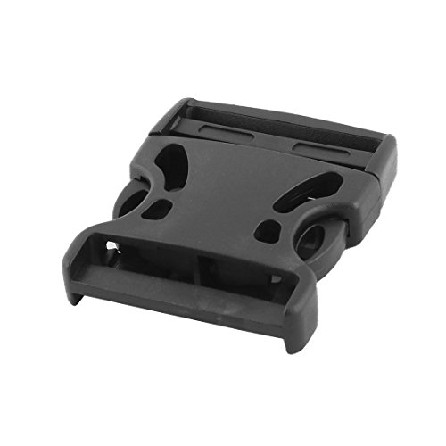 sourcing map 5cm Black Plastic Lateral Release Buckle for Backpacks