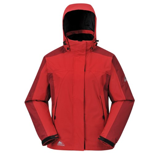 Cox Swain Damen 2-Lagen Outdoor Multifunktionsjacke Makalu div. Farben 3.000 mm Wassersäule, Colour: Red, Size: S