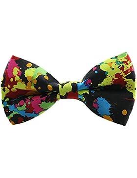 1 Pieza Moda Diseño Corbata De Lazo Ajustable De Poliéster Para Hombre Pajarita Con Patrón De música Ropa Accesorio