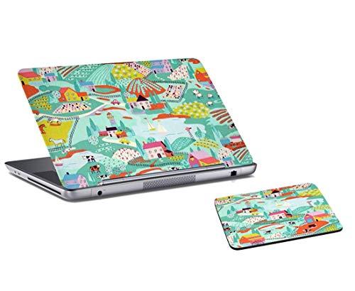 f Gedruckt Laptop Skin Und Mauspad Combo Für Laptop, Computer ()