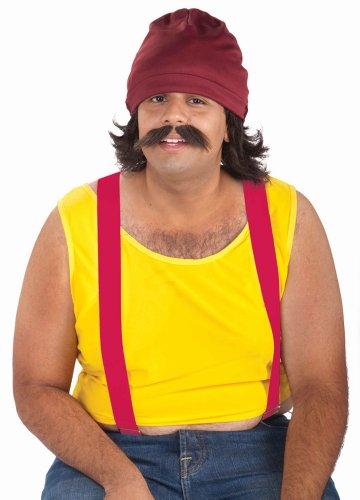 Kostüm Zubehör Kiffer Proll Cheech Mütze Perücke Bart (Kiffer Kostüm)