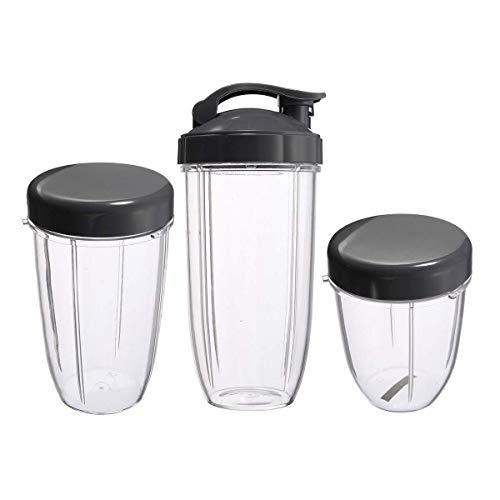 Tapa abatible 3 piezas de tazas de repuesto 32 oz colosal +24 oz de altura + 18 oz taza pequeña + 3...