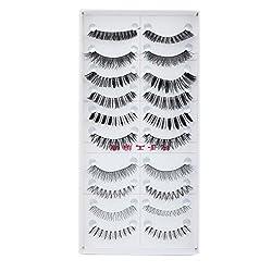 Imported 10 Pairs Mixed Styles False Eyelashes Eye Lashes Extension Make up P...-13007164MG