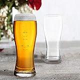 Cello Alto Beer Glass Tumbler 500 ml Set of 2, Clear
