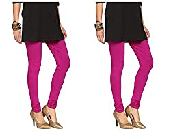 Roop Trading Co girls cotton material, churidar full length legging style, Magenta-magenta colour size available- XL,XXL,XXL