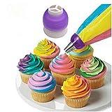 Ogquaton Strumenti di decorazione della torta dell'accoppiatore della crema di Tri-Color del convertitore dell'ugello del sacchetto della tubatura della glassa porpora Pratico e popolare