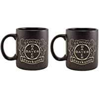 Bayer 04 Leverkusen 2er Set Tassen Black Tee/Kaffeebecher 0,3 Liter