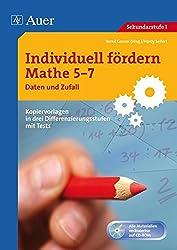 Individuell fördern Mathe 5-7 Daten und Zufall: Kopiervorlagen in drei Differenzierungsstufen mit Tests (5. bis 7. Klasse)