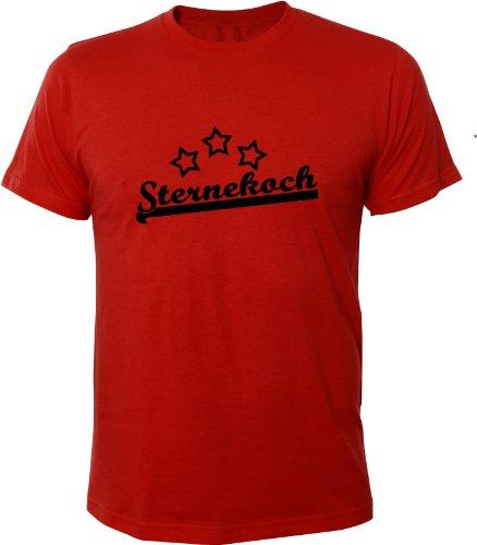 Mister Merchandise Cooles Fun T-Shirt Sternekoch Rot