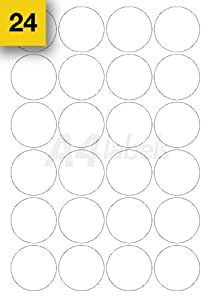 Étiquettes rondes pelable auto-adhésif A4 (diamètre de 45mm)