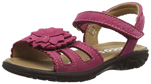 Ricosta Gundi, Sandales ouvertes fille Rose - Pink (bubble 340)