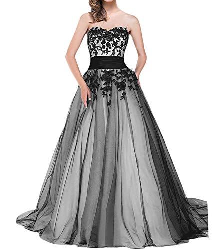 O.D.W Frauen Lange Formales Appliques Vintage Gotisch Brautkleider Mittelalterliches...