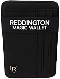 Reddington Magic Wallet San Diego - Monedero con Compartimento para Monedas, protección RFID y NFC, Regalo para Hombre con Caja de Regalo, Color Negro