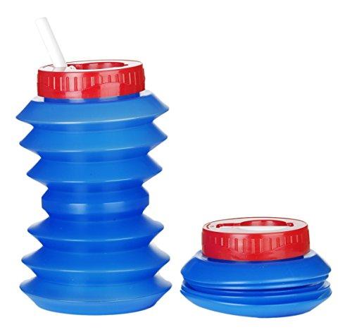Ohyo 500ml Klapp- Wasserflasche Blue/Red