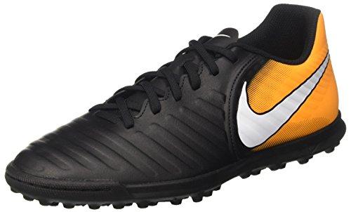 Nike Tiempox Rio Iv Tf, Scarpe da Calcio Uomo, Nero (Black/white-laser Orange-volt), 42.5 EU