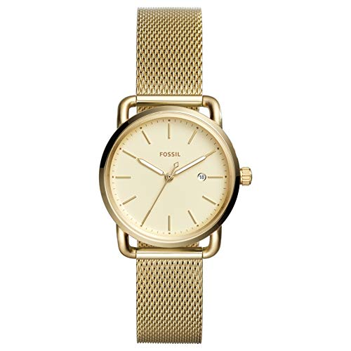 Fossil Women's 'Commuter' Quartz Stainless Steel Casual Watch, Color:Gold-Toned Model: ES4332