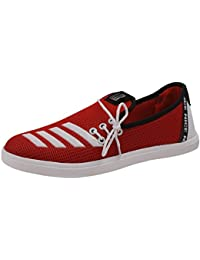 Walk Park Men Synthetic Lace-up Lace-up Flat (Red)