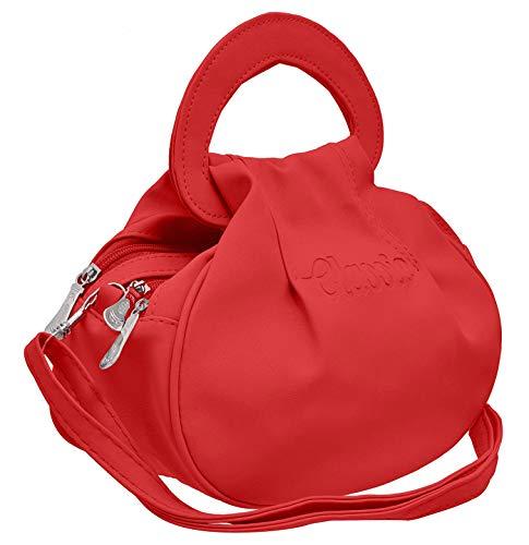 Sleema Fashion Women's Leather Cross Body Sling Bag (Red)