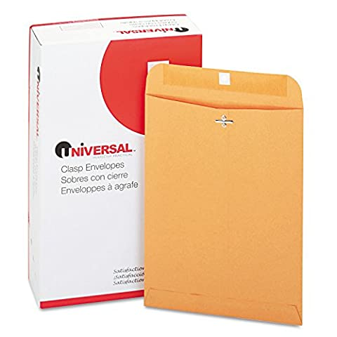 Kraft Clasp Envelope, Side Seam, 28lb, 9 x 12, Light