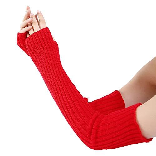 XINSU Lady Winter Poly Woven Velour Handschuhe Mädchen Winter Poly Velour Bogen Woven Design Spezielle Stil Handschuhe Herbst Winter Warm (Color : Rot, Size : One Size) Woven Bogen