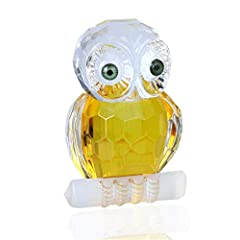 Idea Regalo - H & D cristallo gufo FIGURINE Collection: tavolo centrotavola Ornament, giallo