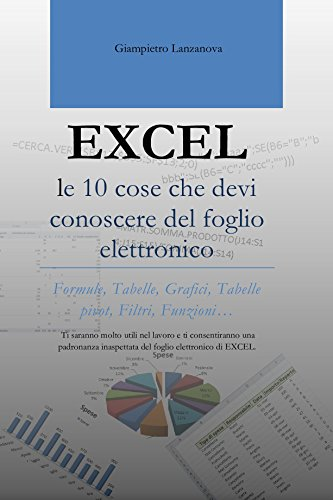 EXCEL le 10 cose che devi conoscere del foglio elettronico: Ti saranno molto utili nel lavoro e ti consentiranno una padronanza inaspettata del foglio ... easy Excel Facile Vol. 1) (Italian Edition) -