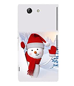 printtech Snowman Christmas Back Case Cover for Sony Xperia Z4 Mini::Sony Xperia Z4 Compact