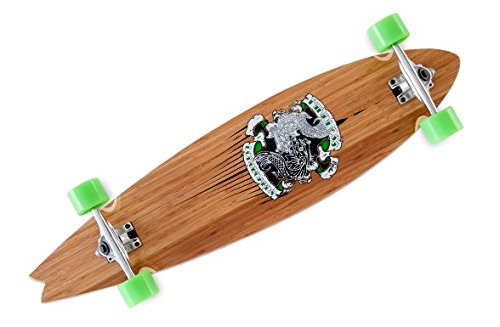 ngboard Peche - 39.5 x 9.375 inch - Profi Concave Pintail Canadian/Bamboo Wood ()