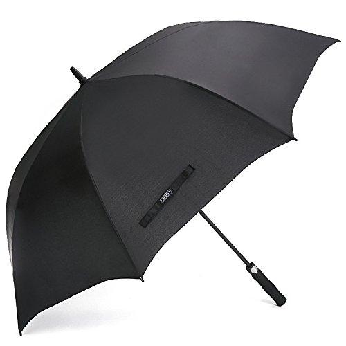 G4Free 62 Pulgadas de Paraguas de Golf Abierto autom¨¢Tico Extra Grande Paraguas Impermeable a Prueba de Viento de Gran Tama?o para Hombres Mujeres