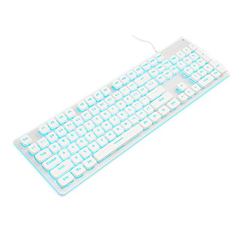 atur mit bunten Rissen LED beleuchtet Hintergrundbeleuchtung USB Wired PC Rainbow Gaming Tastatur D D ()
