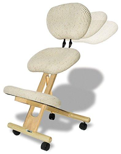 Sedia ergonomica con schienale Cinius, Naturale