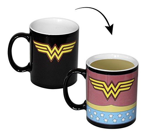 n Thermoeffekt-Tasse Kostüm, Becher aus Keramik (Heißes Wonder Woman Kostüm)