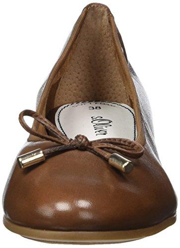 s.Oliver Damen 22112 Geschlossene Ballerinas Braun (COGNAC 305)